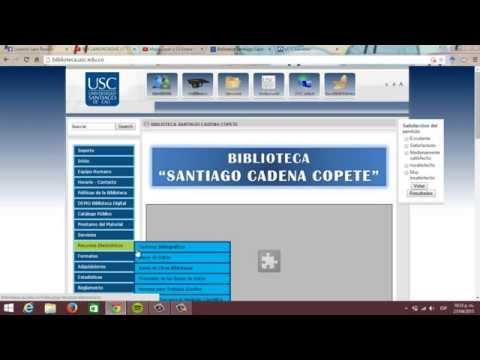 COMO ENTRA EN LA BASES DE DATOS DE La U.S.C (Universidad Santiago De Cali)