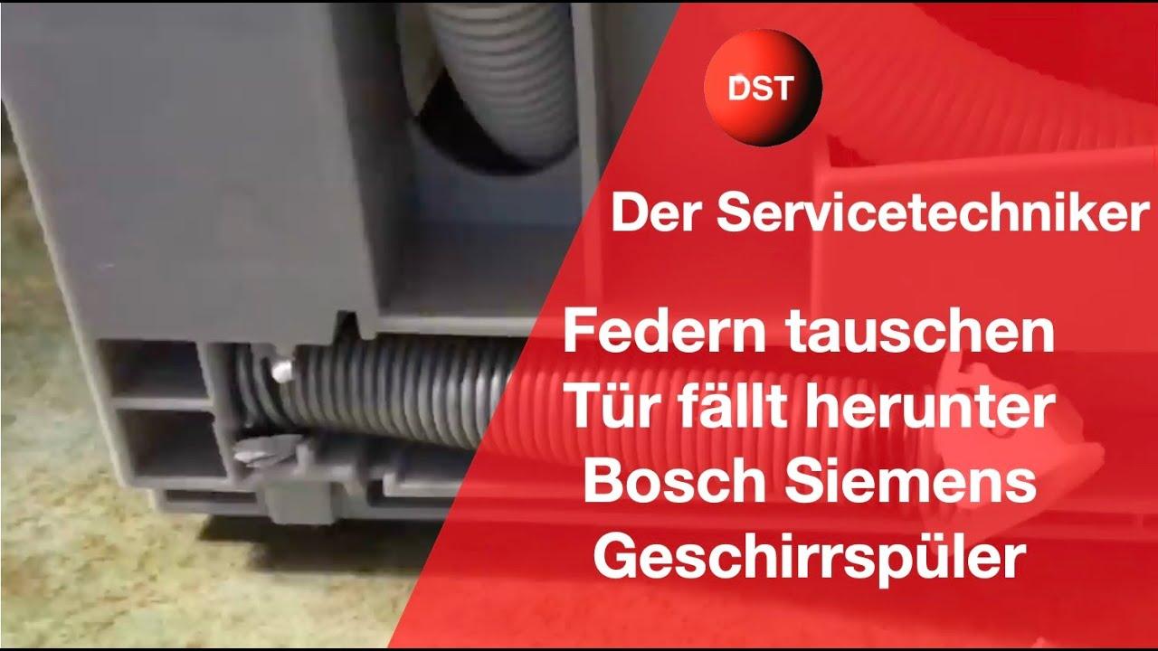 Bosch Kühlschrank Classic Edition Ersatzteile : Bosch siemens neff federn wechseln wenn die tür herunter fällt
