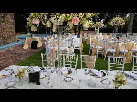 Df decoracion para boda en jardin youtube for Decoracion boda civil jardin