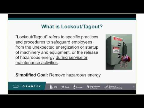 Updates and Impact in Canada to Lockout, Tagout with the 2016 ANSI/ASSE Z244.1 Standard