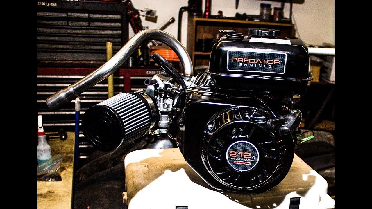 Predator 212 Hop up kit install!!!!! Stage 2 NR Racing, Cooler Kart Part 6