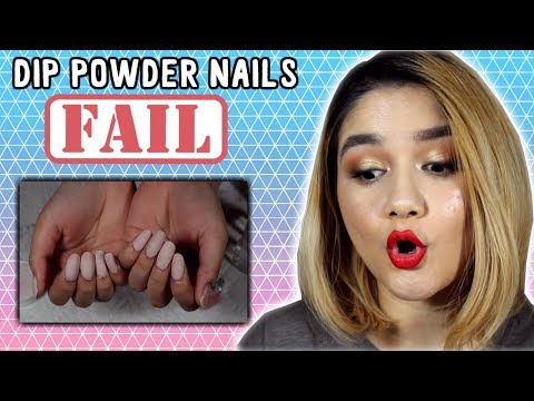 How NOT to do Dip Powder Nails | DIP POWDER NAILS FAIL | Color Club Serendipity Nail Dip Kit Demo