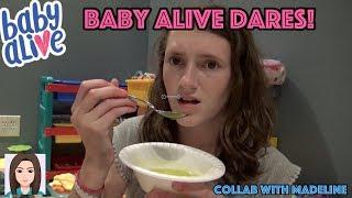 Baby Alive Dares! Collab With BabyDollsAreMyThing! #KMBABYALIVEDARES