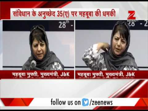 Watch reactions on Mehbooba Mufti's remark on J&K's special status