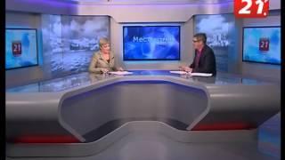 12 04 14 губернатор Мурманской области Марина Ковтун в студии ТВ-21(, 2014-04-13T16:28:37.000Z)