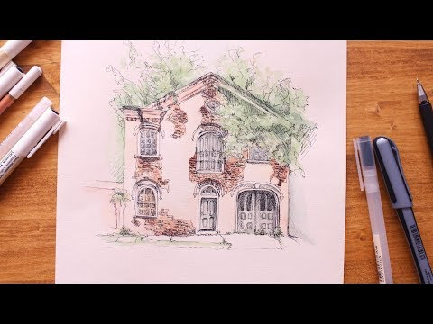 Watercolor House / дом акварель + графика
