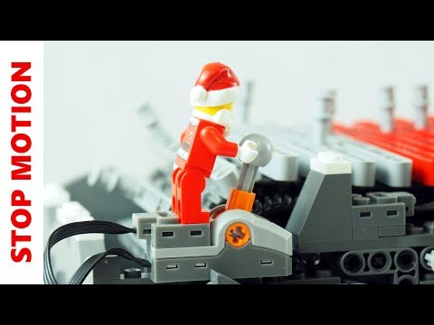 Santa Claus playing Jingle Bells on Lego Musicbox
