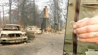 Man Finds Wife's Wedding Ring After Home Burns to Ground in California Wildfire