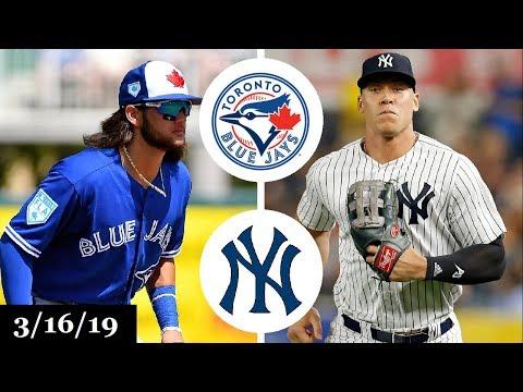 Toronto Blue Jays vs New York Yankees Highlights | March 16, 2019 | Spring Training