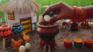 Miniature Egg Biryani   Egg Biryani Recipe   Miniature Cooking #47   Mini Foodkey