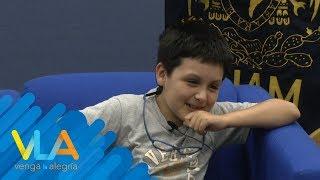 Carlos Santamaría, el estudiante más pequeño de la UNAM | Venga la Alegría