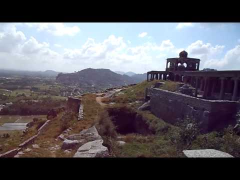 Ancient Gingee Fort D - Panorama of Fort Structures - Tamil Nadu, India (Jan 2012)