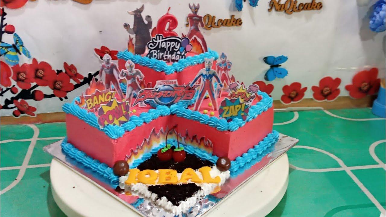 Cake Ulang Tahun Ultraman Cake Ulang Tahun Anak Laki Laki Kekinian Youtube