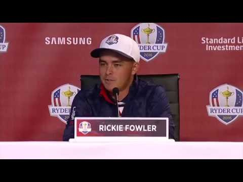 Rickie Fowler 2016 Ryder Cup press conference