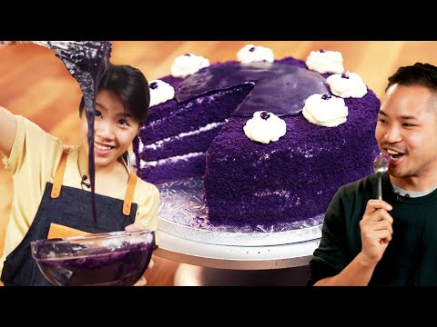 I Recreated My Friend's Favorite Ube Cake From The Philippines