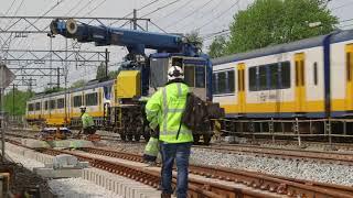 Complexe klus op spoorbrug bij Dordrecht