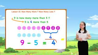 Math For Kids - Lesson 12. How Many More? How Many Less?   1st Grade