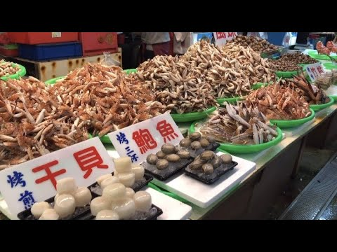 Taiwanese Seafood Tour - Fish Market In Taichung Harbor | Crab, Lobster, Clam, Octopus