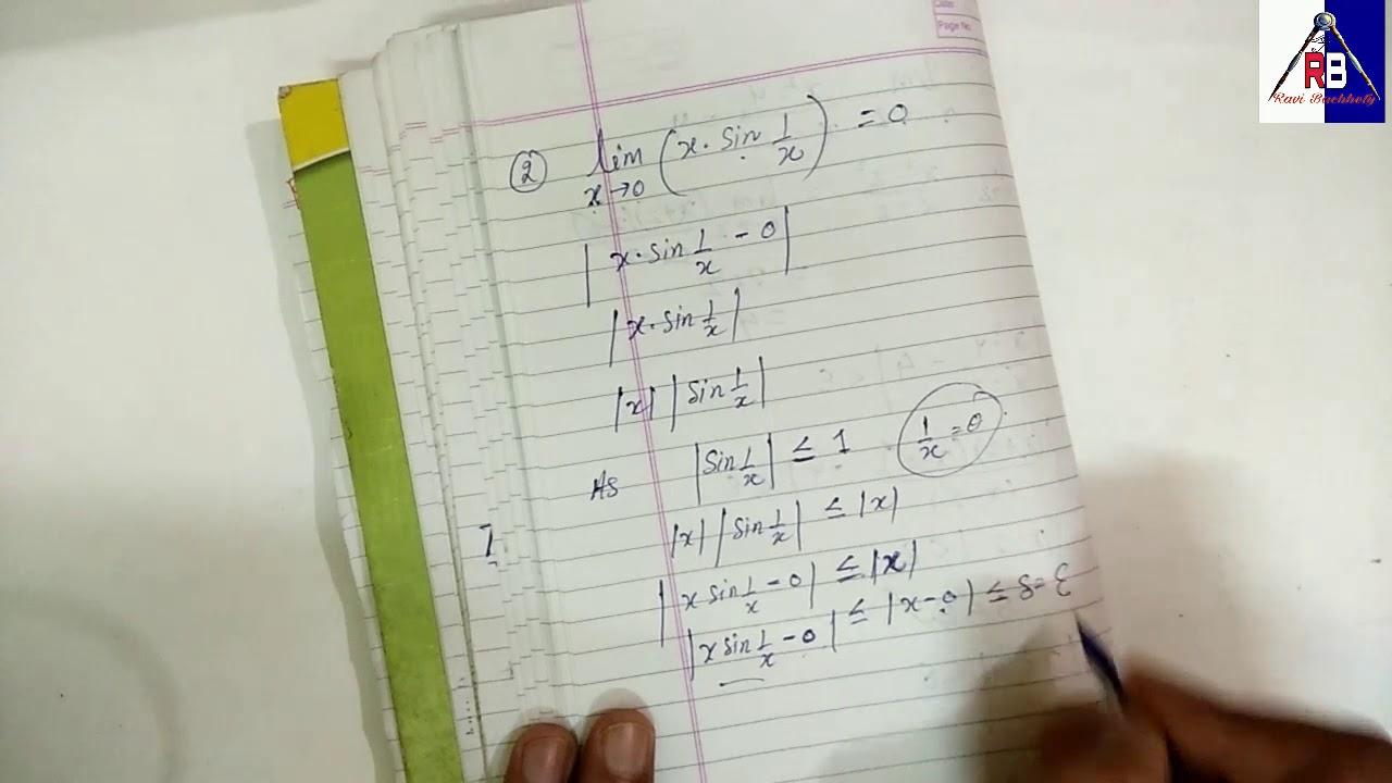 Calculus B Sc  Maths / concept of limits