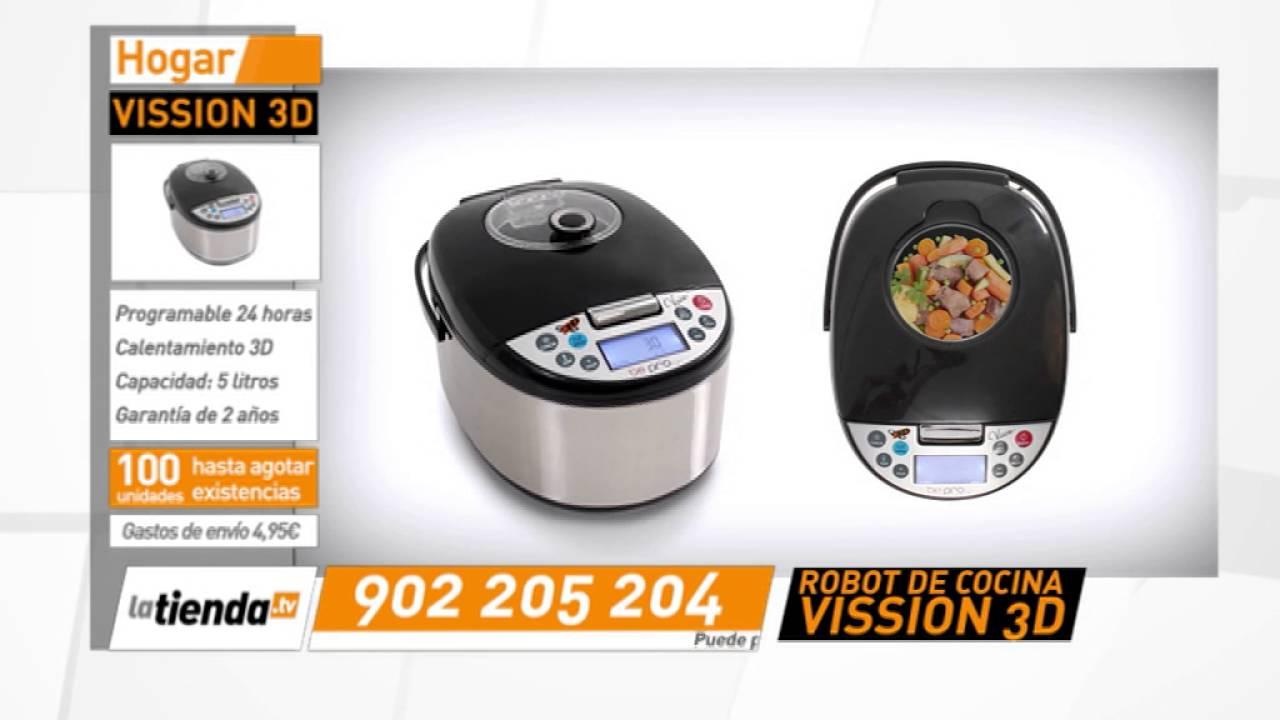 Robot de cocina vission 3d youtube for Precio de robot de cocina