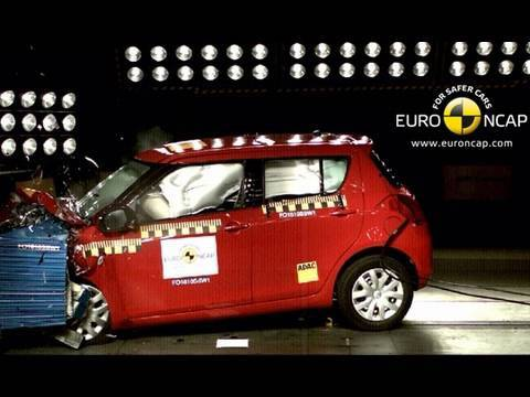 suzuki swift 2011 crash test youtube. Black Bedroom Furniture Sets. Home Design Ideas