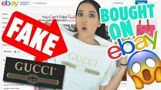 I Bought FAKE GUCCI Items On EBAY - I Got The Real Thing For $20?? | Mar