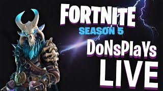 🔴 FORTNITE SEASON 5 LIVE STREAM + ACGL TOURNAMENT || 300 WIE ZIEL || V BUCKS GIVEAWAY 🔴