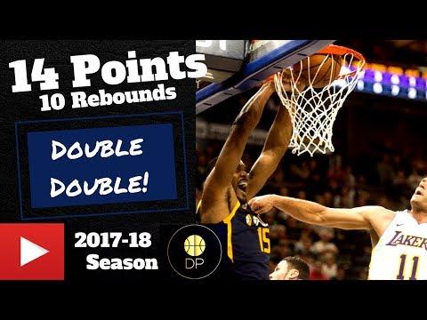 Derrick Favors Full Highlights vs Lakers 10/28/17   14 Pts, 10 Rebs
