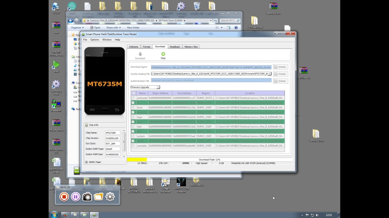How TO Flash Lenovo Vibe B a2016a40 done by Smart Phone Help