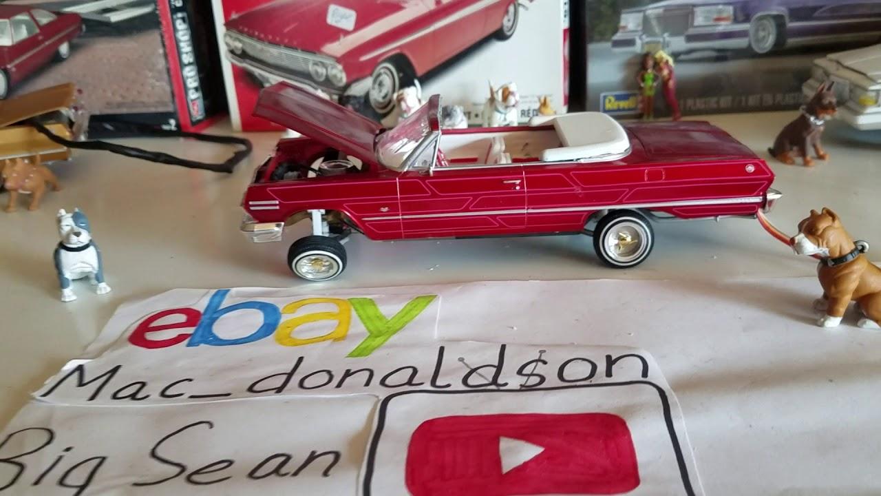 63 Impala Lowrider Model Kit Hydraulic Hopper For