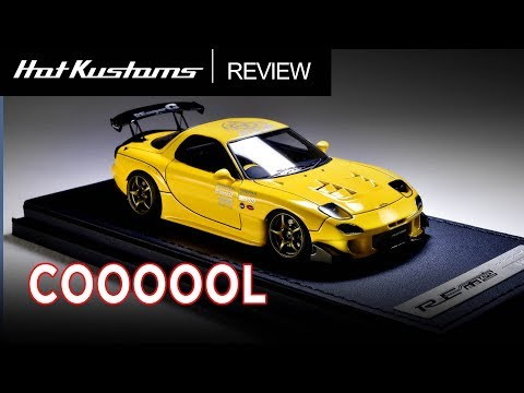 1/43 Ignition Model Mazda RX7 FD3S In Initial D RedSuns Theme | Perfect !