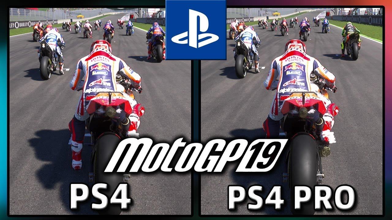 MotoGP 19, PS4 vs PS4 Pro Frame Rate Test