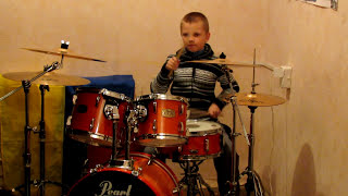 Boney M - Nightflight To Venus / Rasputin - Drum Cover - Drummer Daniel Varfolomeev 9 years.