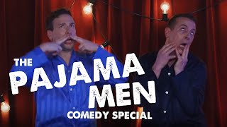 A multi-rolling comedy masterclass from the Pajama Men | Soho Theatre On Demand