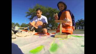 Home Depot Kids Workshop With Jayden (building A Bird Feeder) - 04/06/2013 (time Lapse)