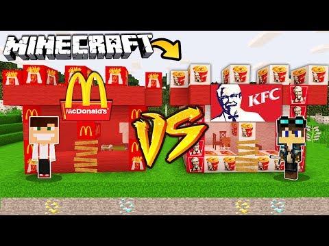 ZAMEK MCDONALDS VS ZAMEK KFC W MINECRAFT! thumbnail