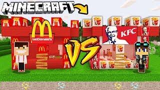 ZAMEK MCDONALDS VS ZAMEK KFC W MINECRAFT!