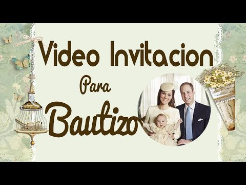 tarjeta de invitacion para bautizo real