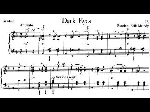 Piano Pieces for Children Grade 2 No.1 Russian Folk Melody ...