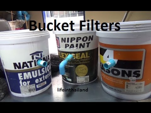 How I make my bucket/Swirl filters for my small fish farms.