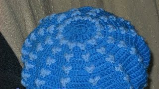 Женский берет крючком. Women's beret (сар) crochet