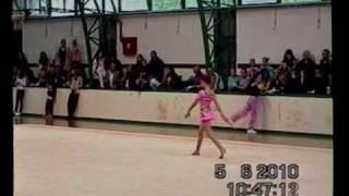 tamara obradovic serbia rhythmic gymnastics national championships 2010 w a group b