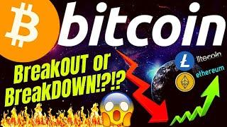 BREAKOUT or BREAKDOWN!? BITCOIN LITECOIN and ETHEREUM crypto TA prediction, analysis, news, trading