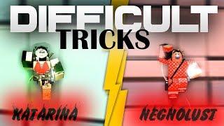 ROBLOX PARKOUR: Difficult Tricks ft. Katarina!