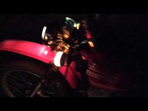 1980 Honda XL250S Motorcycle Converted to 12 Volt Lighting on