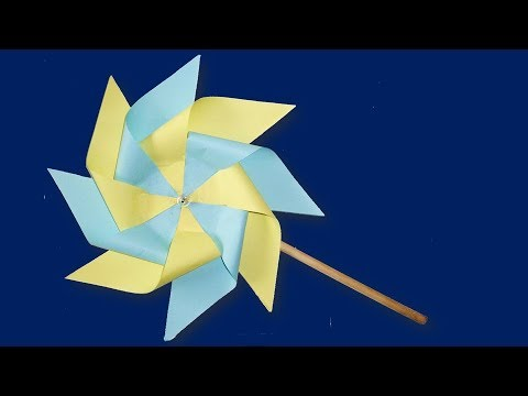 DIY - How to make paper windmill