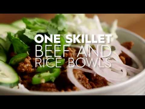 One Skillet Beef And Rice Bowls | Cooking: How-To | Better Homes & Gardens