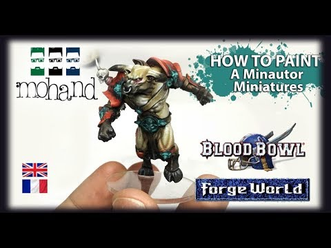 Fr Eng How To Paint Bestial Flesh And Red Minotaur Forgeworld For Blood Bowl