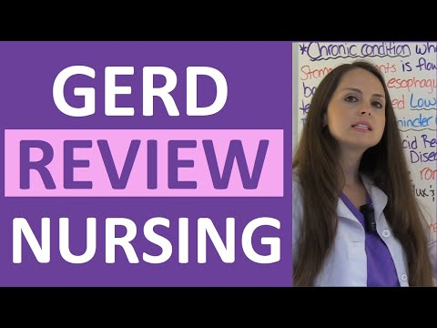 GERD | Gastroesophageal Reflux Disease Nursing NCLEX Lecture | Symptoms and Treatment