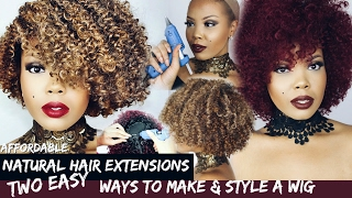 $20 NATURAL HAIR EXTENSIONS?! | DIY OUTRE 3C WHIRLY WIGS | HOT GLUE GUN METHOD VS SEWING | TASTEPINK(I'M SHOWING YOU HOW TO STYLE AFFORDABLE NATURAL HAIR EXTENSIONS FROM OUTRE, USING THE PREMIUM PURPLE PACK 3C WHIRLY IN ..., 2017-02-09T20:58:05.000Z)